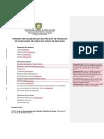 Roteiro Para Elaboração de Projeto de TCC - Estrutura