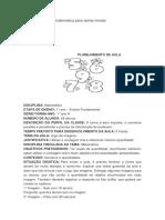 Planos de Aula de Matematica Para Series Iniciais