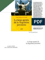 Halperin Donghi Tulio - La Larga Agonia de La Argentina Peronista