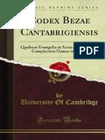 Codex Bezae Cantabrigiensis
