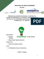 Proyecto GreenHouse 2016