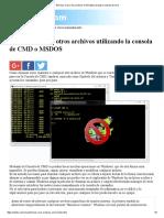 Eliminar Virus y Otro Archivos en Windows Usando La Consola de Cmd