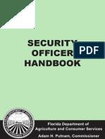 Florida Security Officer Handbook (2016)