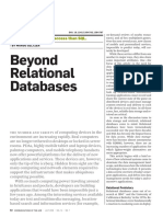Beyond Relational Databases - Margo Seltzer