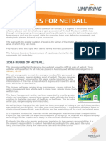 New Rules of Netball Snapshot