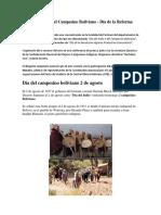 2 de Agosto Día Del Campesino Boliviano