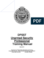 Unarmed Security Professional Training Manual (2011)