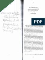 Oscar Blanco de La Protocrítica a La Institucionalización de La Crítica en Historia Crítica de La Literatura Argentina