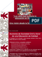 Sociedad Civil y Educacion