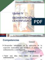 Sedimentacion y Centrifugación