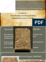 Accounting Theory History of Accounting