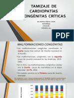 Tamizaje de Cardiopatías Congénitas Críticas Expo Setiembre 2017