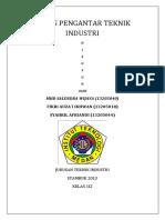 Tugas Pengantar Teknik Industri