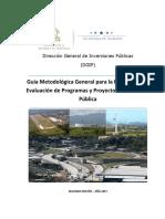 Guía Metodológica General para la Formulación y Evaluación de Programas y Proyectos de Inversión  Pública