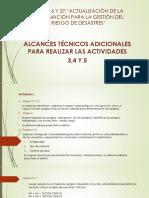 1. Alcances Actividades 3,4 y 5
