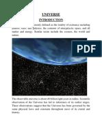 Origin of Universe