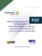 Metodologia Creacion Municipios Ddts