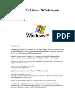 Liberar Banda Internet Windows