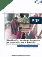 Identificación y Formulación de Proyectos de Cooperación para el Desarrollo