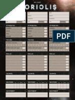 Coriolis NPC Sheet
