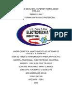 Plan de Mantenimiento Preventivo de Sistema de Plc
