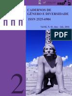 Cadernos de Gênero e Diversidade UFBA/UNILAB - V. 2 N. 1