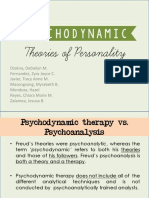 Psychodynamic Theories of Personality (1)