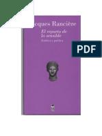 Rancière, Jacques - El Reparto de Lo Sensible