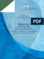 Manual de  Normas Generales y Procedimientos Específicos de  Gestión Integrada de la Cooperación Internacional para el Desarrollo
