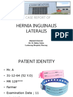 Case report of Hernia Inguinalis Lateralis Reponible