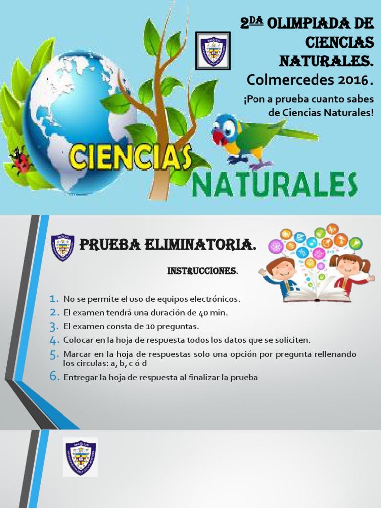 2da Olimpiada de Ciencias Naturales - 7º
