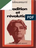 Tradition et Revolution - Jiddu Krishnamurti.epub