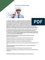 Indicadores de Gestión de Proceso en La Industria Minera