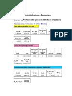 Calculo Con Cortocircuito Arco Electrico Verificación de La Instalación