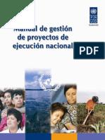 Manual de gestión de  proyectos de   ejecución nacional