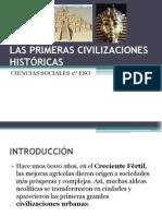 LAS PRIMERAS CIVILIZACIONES HISTÓRICAS