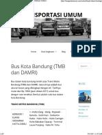 Bus Kota Bandung (Tmb Dan Damri) – Transportasi Umum