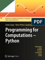 Programming for Computations – Python