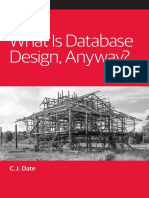 What is Database Design Anyway