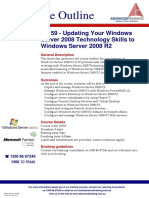 Course Outline - Updating Your Windows Server 2008 Technology Skills to Windows Server 2008 R2
