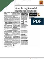 """Università:""""Abolire i concorsi è l'unica soluzione"""" - Il Resto del Carlino del 26 settembre 2017"""