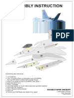 Flying Paper f22 Raptor