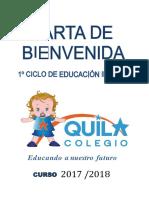 Carta Bienvenida Escuela 2017 18