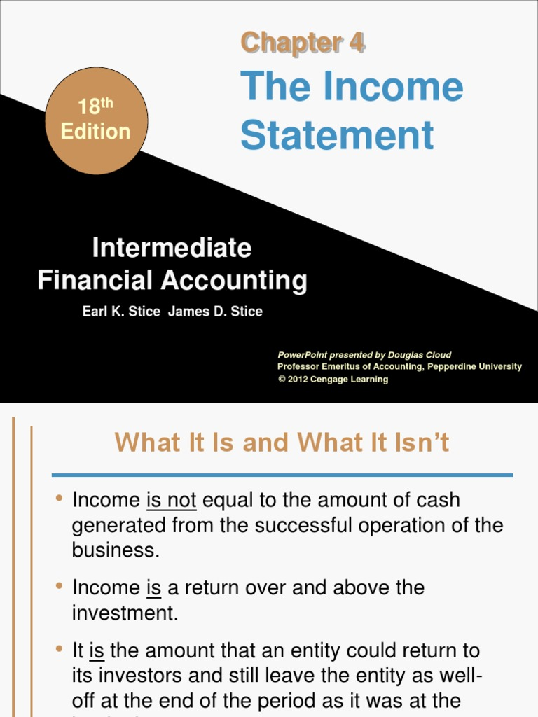 Intermediate financial accounting income statementppt revenue intermediate financial accounting income statementppt revenue cost of goods sold fandeluxe Choice Image
