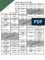 Calendrier Previsionnel 2017-2018