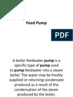 Feed Pump Report