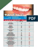 2011 Denti Laser Lista de Precios