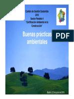 Buenas prácticas ambientales en la construccion. Enrique Carrasco. 2010