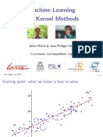 """Machine Learning With Kernel Methods"""