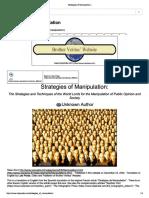Strategies of Manipulation